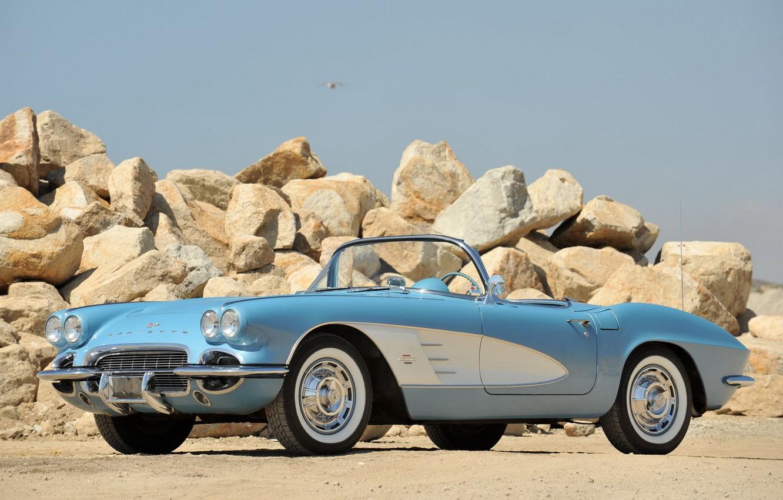 Photo wallpaper auto, retro, stones, 1953, convertible, classic, chevrolet, corvette c1