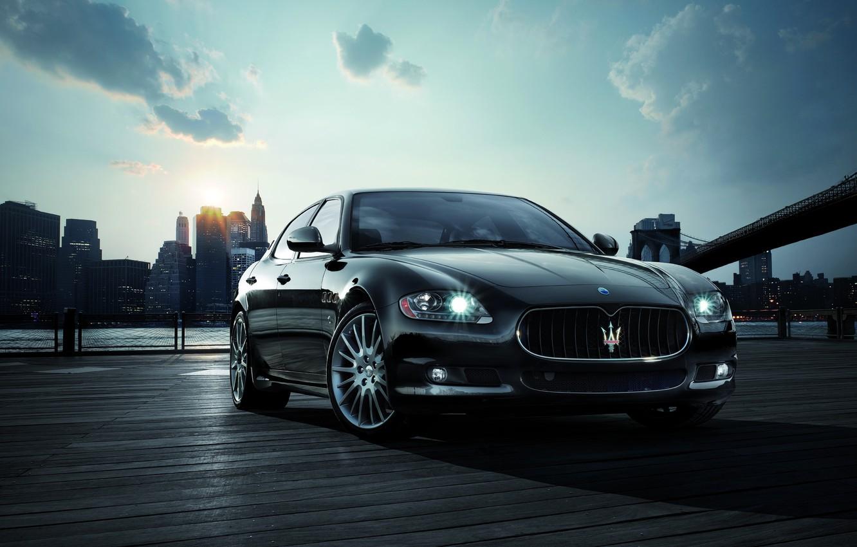 Photo wallpaper the sun, Maserati, New York, morning, Quattroporte Sport GT S