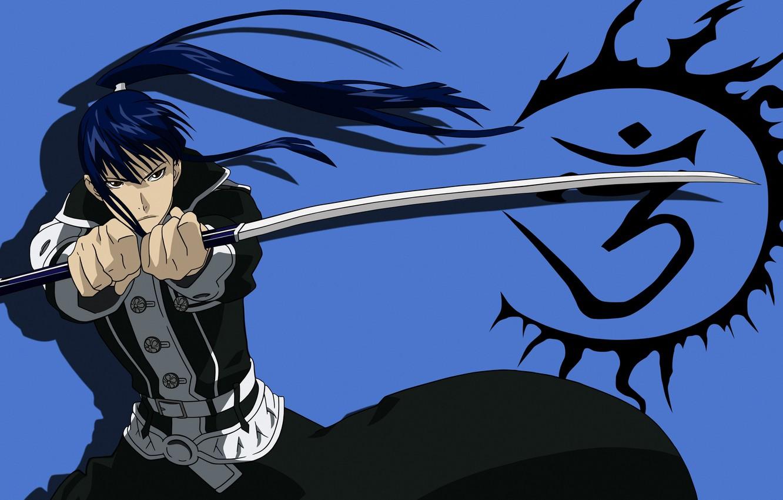 Photo wallpaper look, sword, anime, guy, D. Gray-man