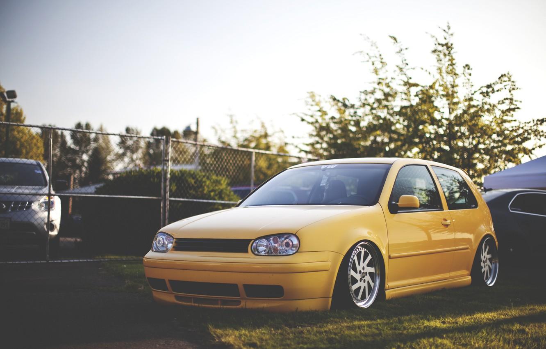 Photo wallpaper style, Volkswagen, Golf, golf, Volkswagen, stance, mk4, stens