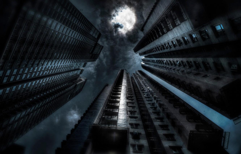 Photo wallpaper night, art, Gotham, dark city