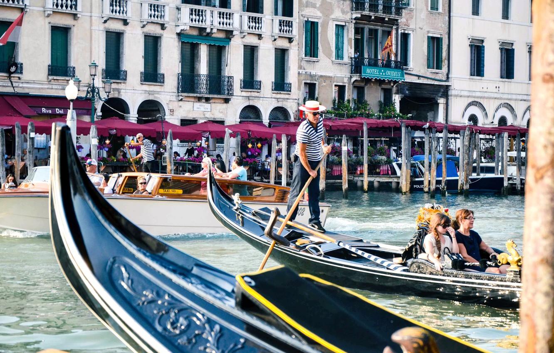 Photo wallpaper sea, nature, Europe, Venice, Italy, italy, gondola, venice, venice