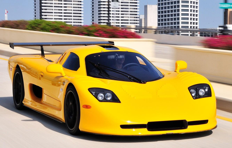 Photo wallpaper supercar, yellow, Mosler