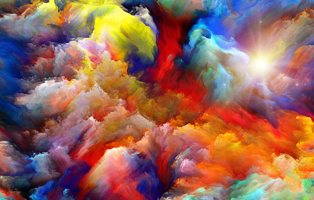 Photo wallpaper colors, sky, background, abstact, color explosion