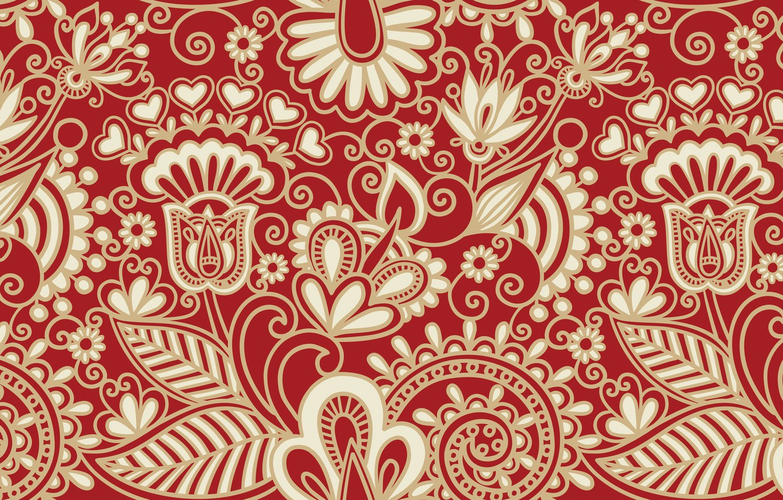 Photo wallpaper flowers, patterns, pattern, texture, art