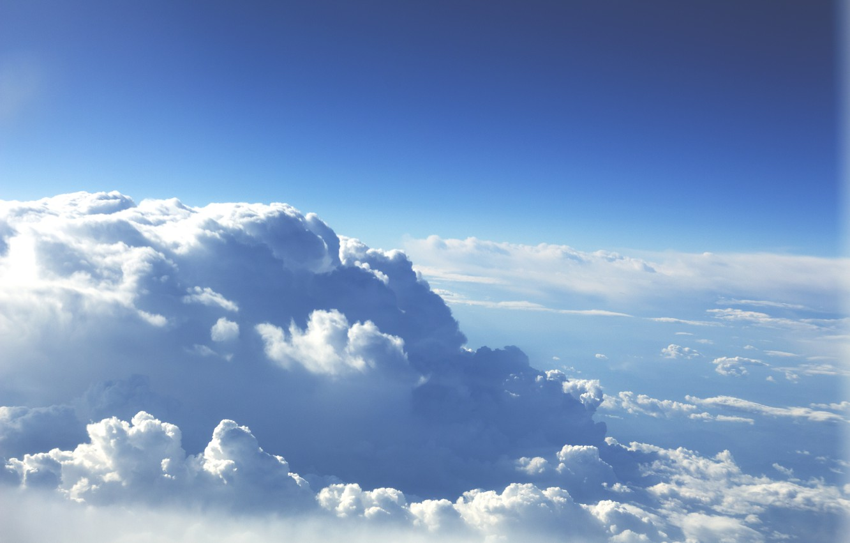 Photo wallpaper the sky, clouds, horizon