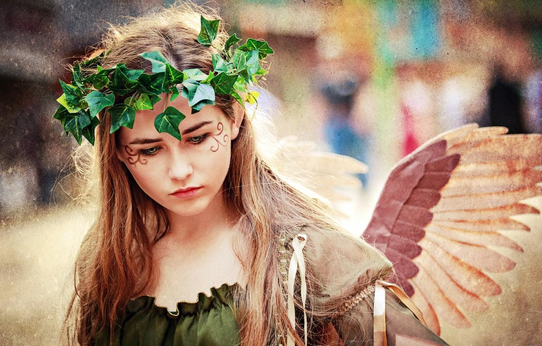 Photo wallpaper girl, style, angel