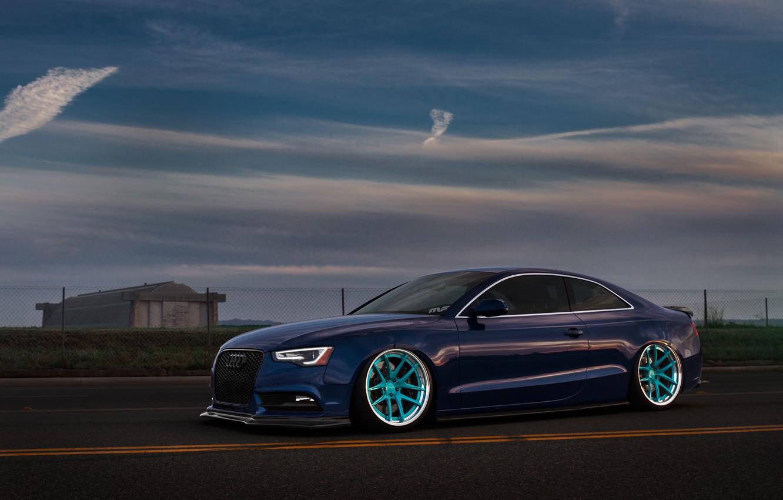 Photo wallpaper Audi, Sky, Blue, RS5, Wheels