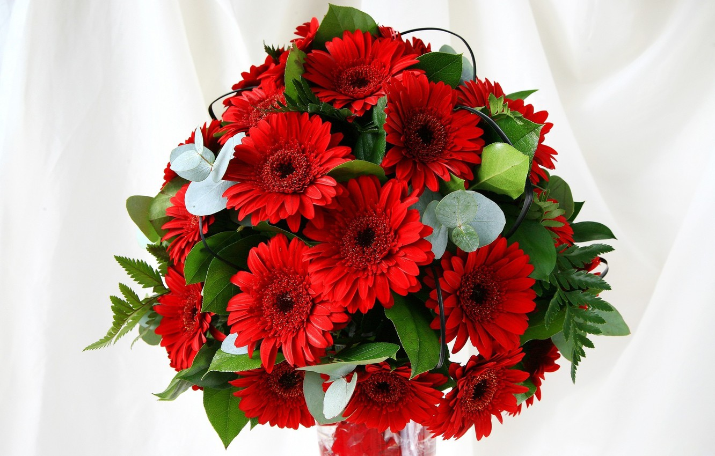 Photo wallpaper flowers, bouquet, gerbera, composition