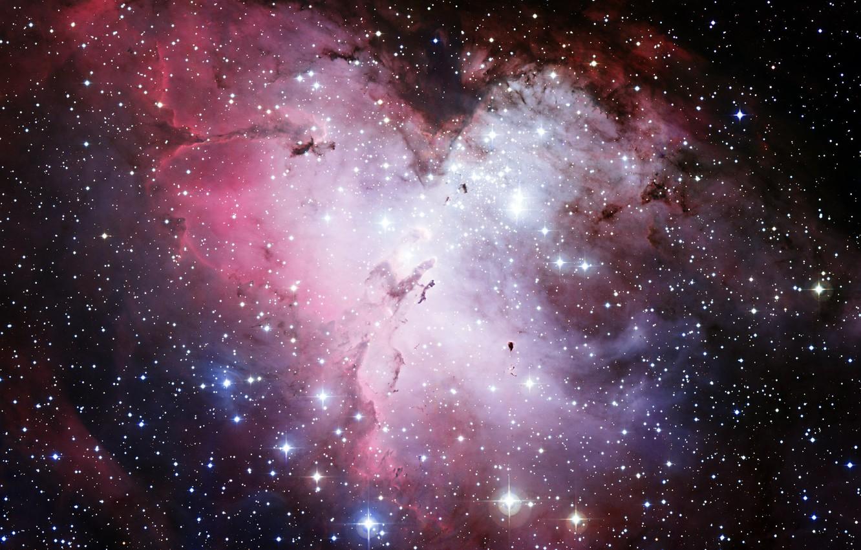 Photo wallpaper space, stars, nebula, Hubble, Eagle, telescope, M16, NGC 6611