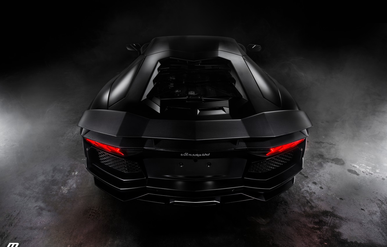 Photo wallpaper Lamborghini, Aventador, Johan Lee Photography, Matte Black, by Perillo Collision Center