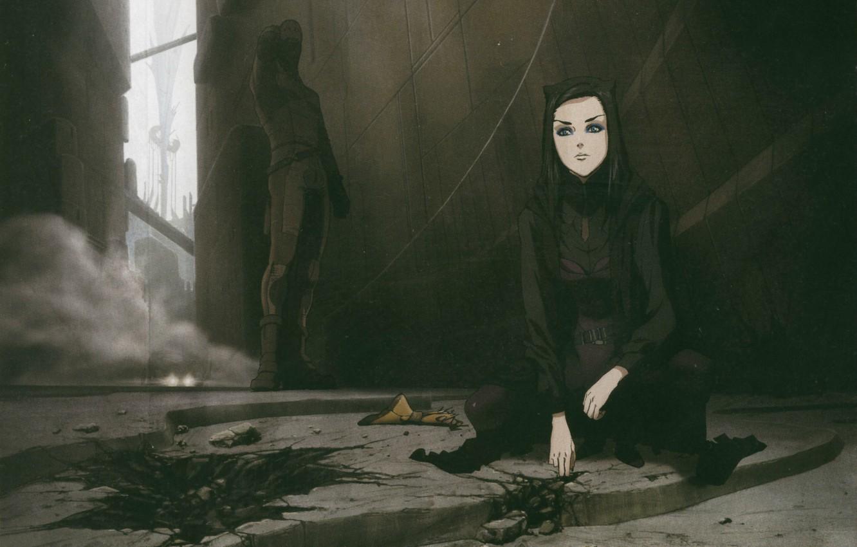 Photo wallpaper destruction, cyborg, Ergo Proxy, the scene, in the dark, Iggy, Re-l Mayer