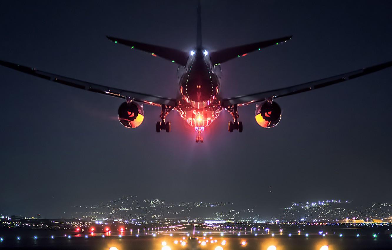 Wallpaper Landscape Lights The Plane Japan Airport