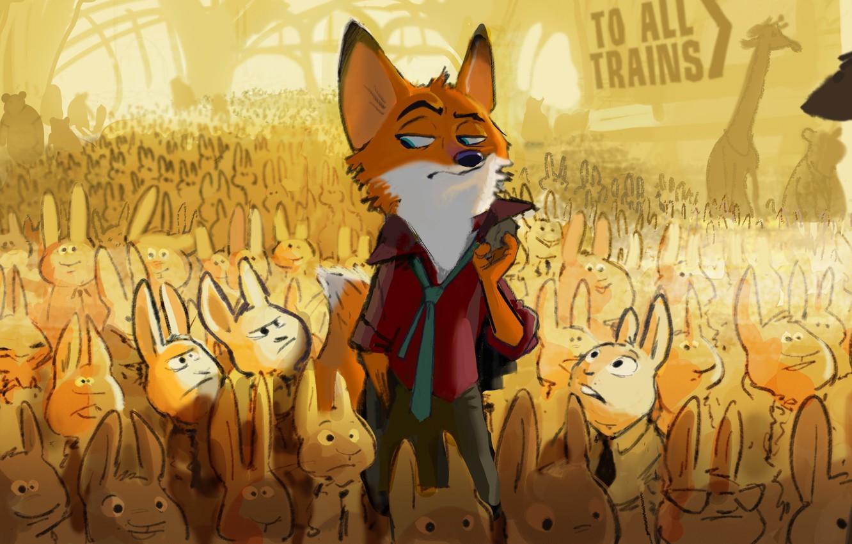 Wallpaper Fox Cartoon 2016 Zootopia Zeropolis Nick
