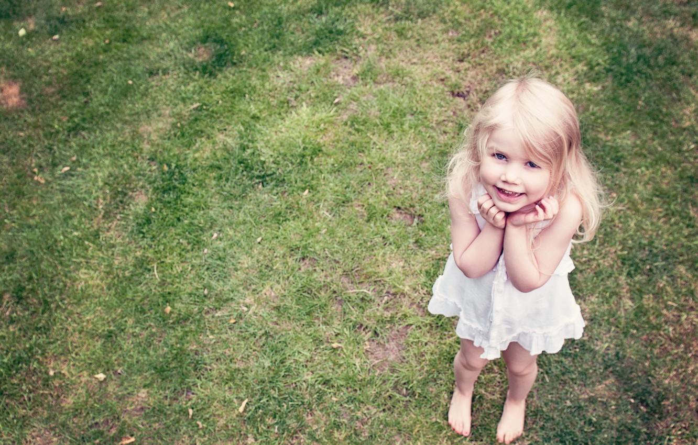 Photo wallpaper smile, mood, angel, girl