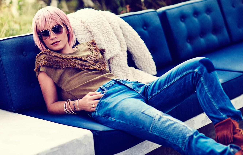 Photo wallpaper photoshoot, Lily Allen, Lily Allen, Vero Moda