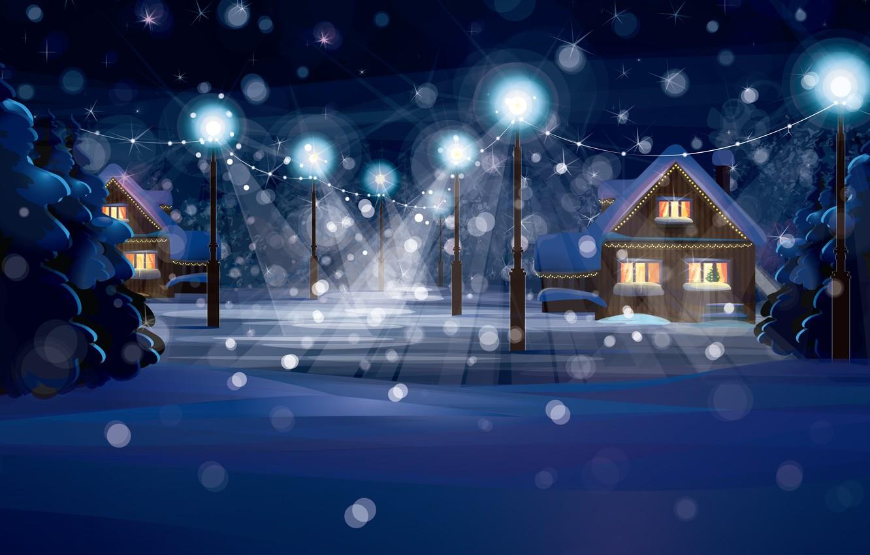 Photo wallpaper winter, snow, landscape, nature