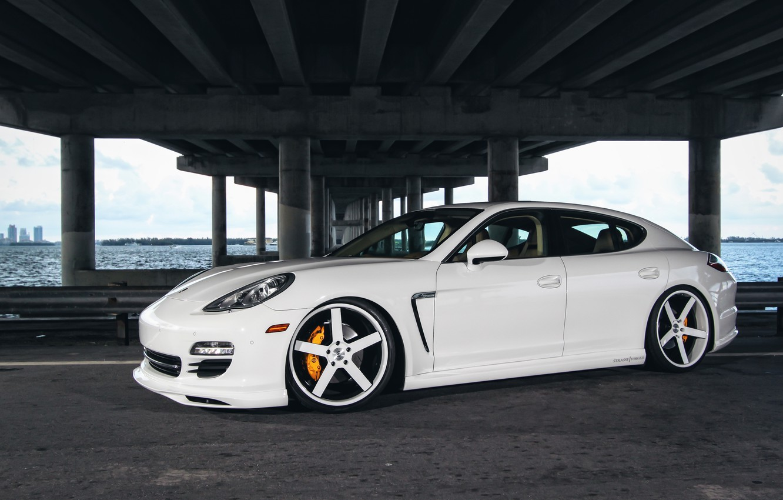 Photo wallpaper Auto, Bridge, Porsche, Tuning, Panamera, Machine, Drives, Bump