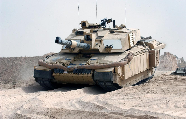 Photo wallpaper Desert, UK, Tank, Challenger 2