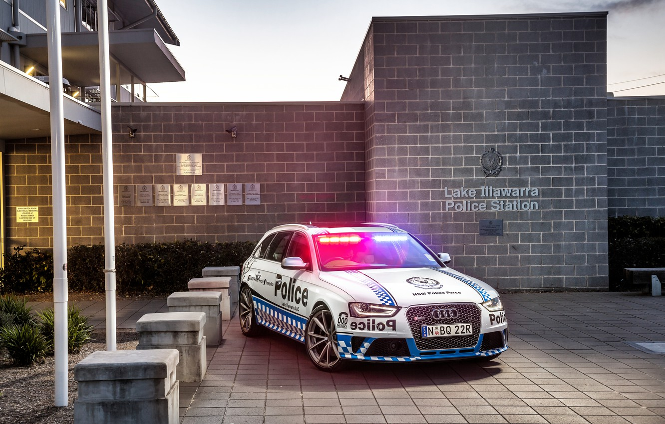 Photo wallpaper Audi, Audi, police, Police, RS 4, Before, 2015