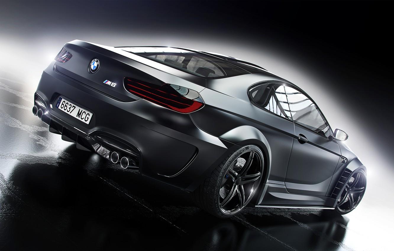 Photo wallpaper BMW, Car, Black, Prior Design, Wheels, Rear
