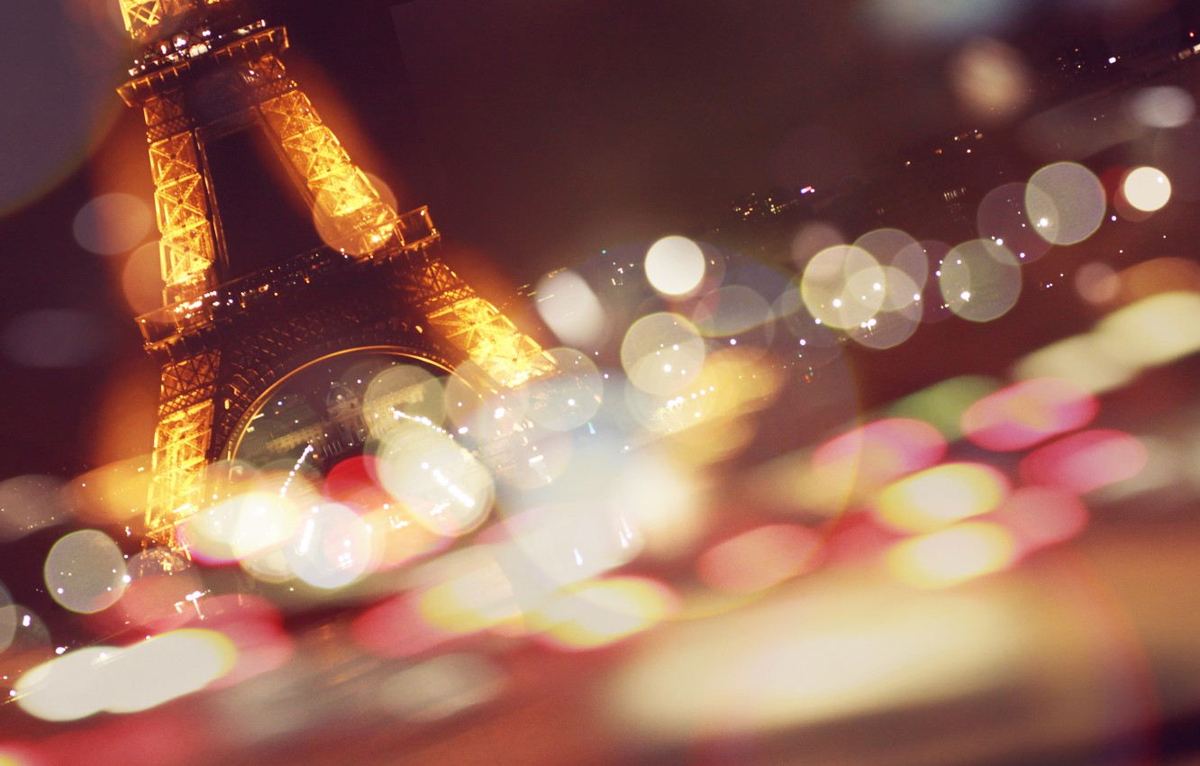 Photo wallpaper Eiffel tower, Paris, France, paris, bokeh