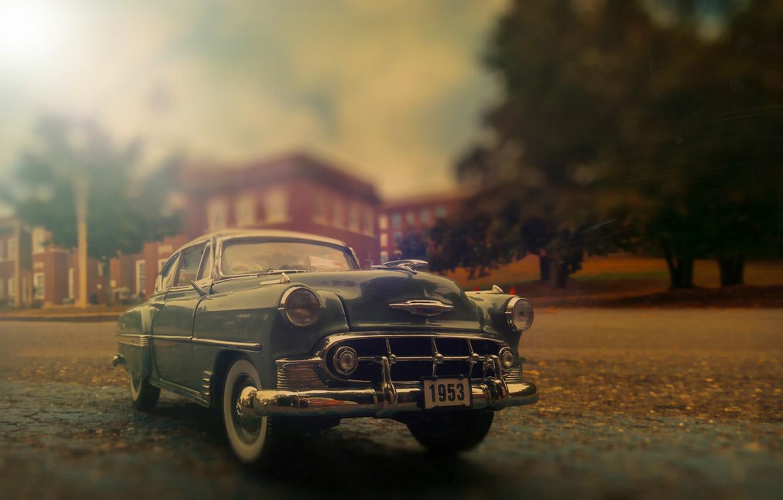 Photo wallpaper retro, Chevrolet, classic, Bel Air, Chevy, 1953 Chevrolet Bel Air