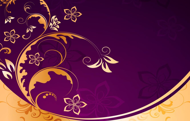 Photo wallpaper background, golden, ornament, vintage, texture, floral, pattern, floral
