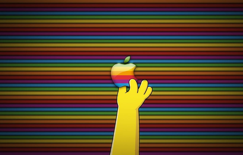 Photo wallpaper Apple, logo, Simpsons