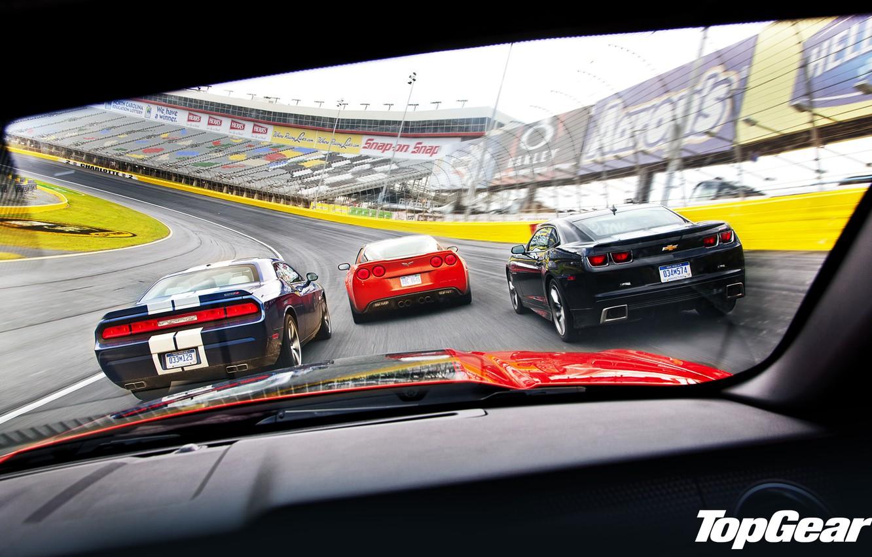 Photo wallpaper mustang, Corvette, ford, muscle car, Dodge, camaro, chevrolet, oval, dodge, challenger, racing track, srt8, top …