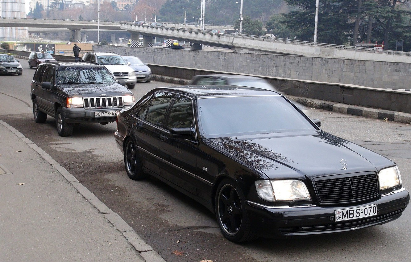 Photo wallpaper mercedes-benz, w140, s70, GiorgiTevzadze