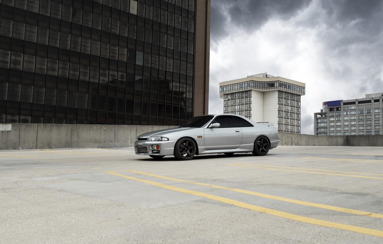 Photo wallpaper City, Nissan, Skyline, R33