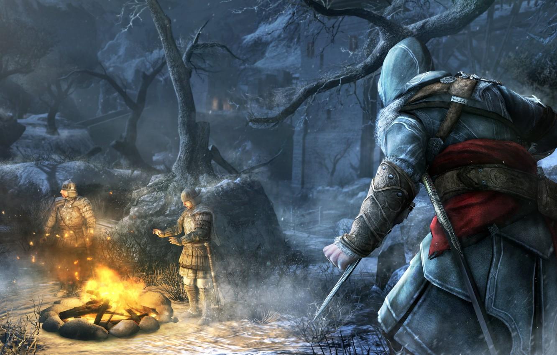 Wallpaper Snow Blade Assassin S Creed Revelations Ezio Guards
