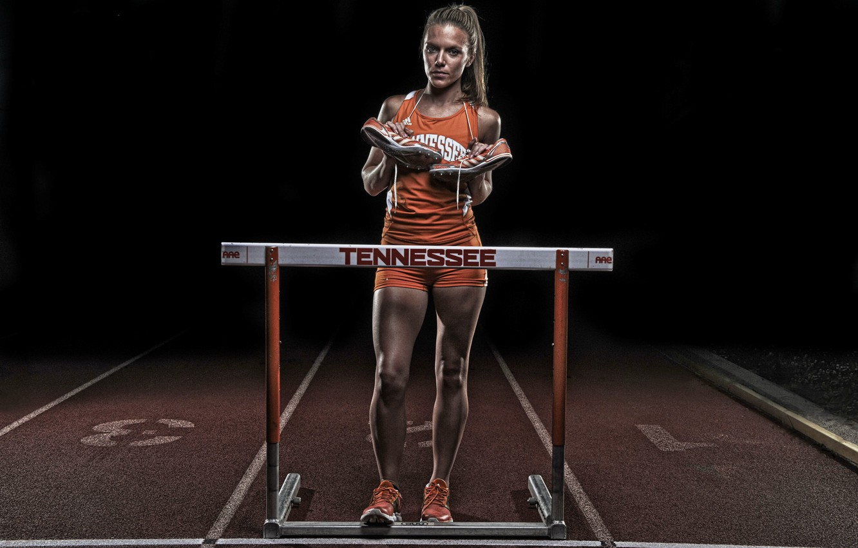 Photo wallpaper girl, sport, running
