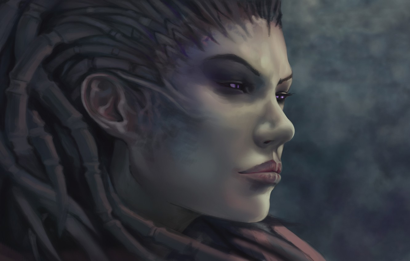 Wallpaper Face Zerg Sarah Kerrigan Starcraft Queen Of