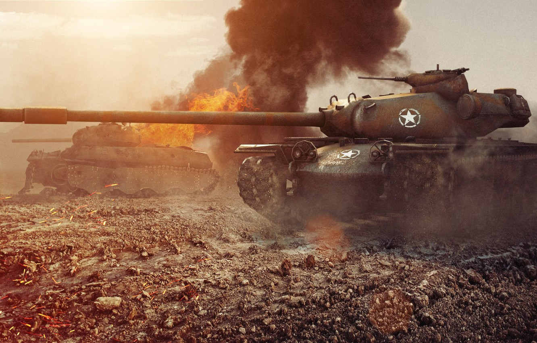 Photo wallpaper tank, USA, USA, tanks, WoT, World of Tanks, T110E5, Wargaming.Net