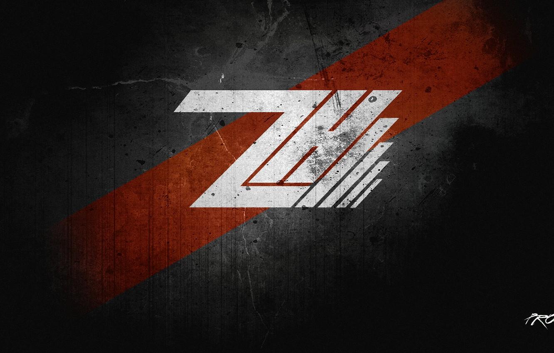 Photo wallpaper portal, wallpaper, logo, creative, red., Hack'Z