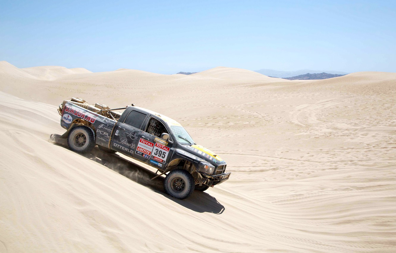 Photo wallpaper Auto, Sport, Machine, Dodge, Race, Day, Jeep, Rally, Dakar, SUV, Rally, Championship, Side view, The …