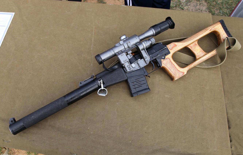 Photo wallpaper weapons, special sniper rifle, Vintorez, VSS