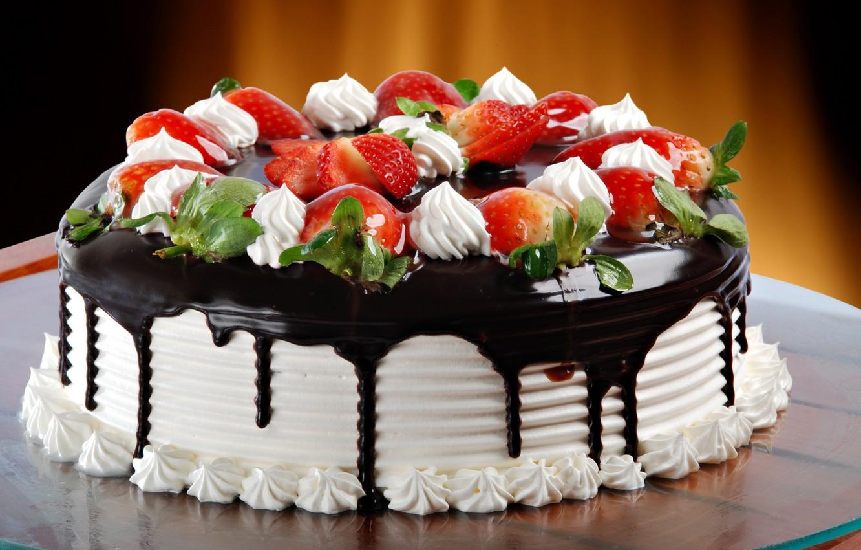 Photo wallpaper chocolate, glaze, Cake