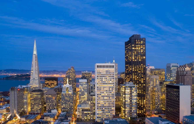 Photo wallpaper the sky, skyscrapers, CA, USA, USA, San Francisco, downtown, California, San Francisco, business center, city …