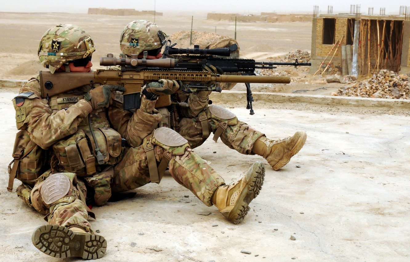 Photo wallpaper weapons, army, soldiers
