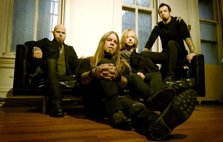 Photo wallpaper sofa, group, men, band, nu metal, nu metal, Drowning Pool