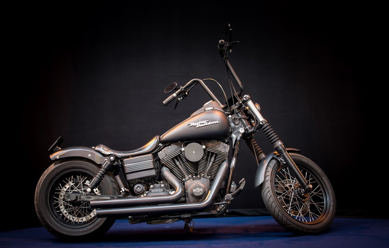 Photo wallpaper Harley Davidson, motor bike, Mean machine