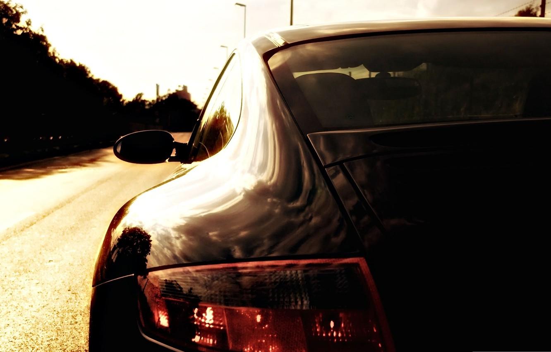 Photo wallpaper car, auto, porsche at dusk