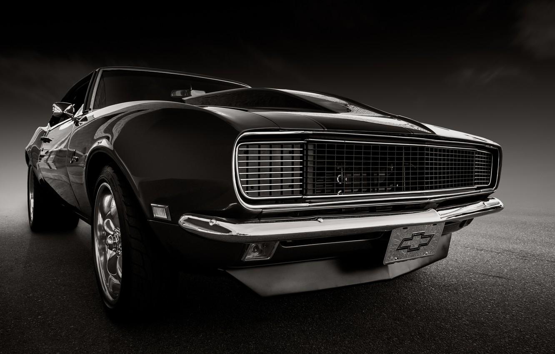 Photo wallpaper retro, Chevrolet, Camaro, classic, the front, 1968