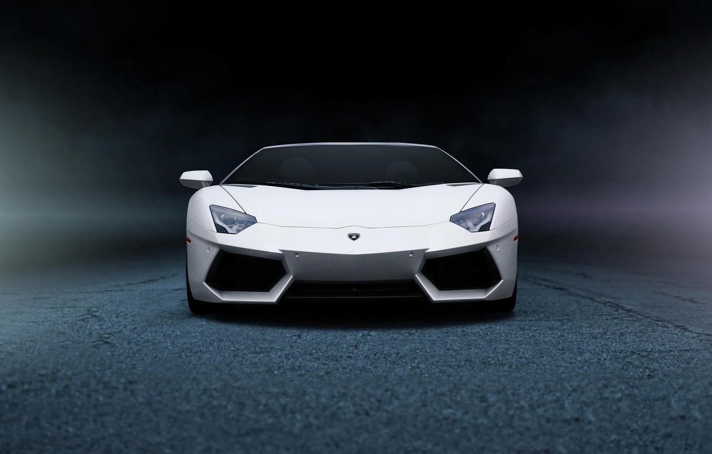Photo wallpaper white, Lamborghini, before, white, Lamborghini, front, LP700-4, Aventador, aventador