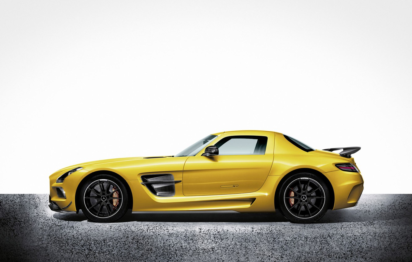 Photo wallpaper Mercedes Benz, AMG, SLS, Black Series