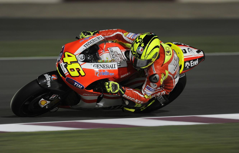 Photo wallpaper Race, Bike, Motorcycle, Moto, Ducati, MotoGP, Valentino, Rossi, Valentino Rossi