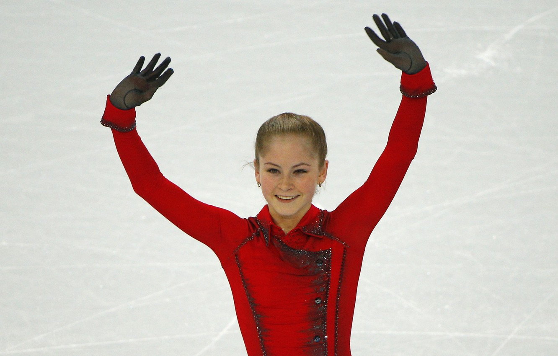 Photo wallpaper smile, ice, beauty, Russia, Yulia Lipnitskaya, skater, champion, Yulia Lipnitskaya
